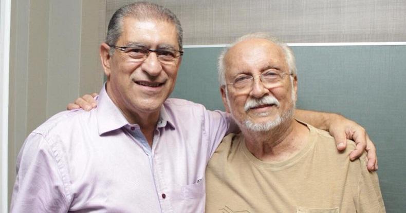 Roberto Mello, diretor-geral, e Roberto Menescal, presidente da Abramus (Divulgação)